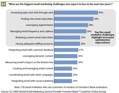 biggest email marketing challenges 2009